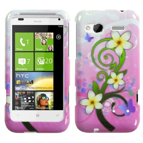 Insten Tropical Flowers Hard Case For HTC Radar 4G / Omega, Pink/Other