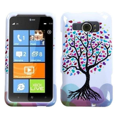 Insten Love Tree Hard Case For HTC Titan II, Colorful/White
