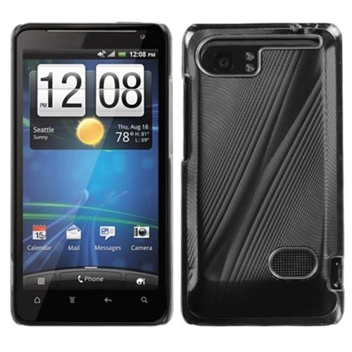 Insten Fitted Hard Shell Case for HTC Holiday / Vivid / Raider 4G - Black/Clear