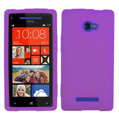 Insten Skin Rubber Case For HTC Windows Phone 8X, Purple