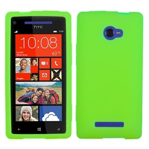 Insten Rubber Cover Case For HTC Windows Phone 8X, Green