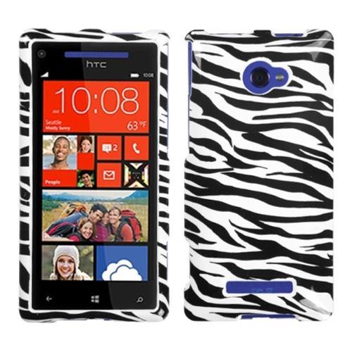 Insten Fitted Hard Shell Case for Windows Phone 8X - Black/White
