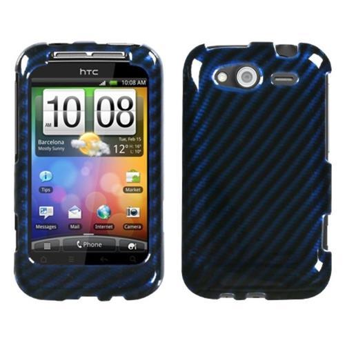 Insten Racing Fiber Hard Case For HTC Wildfire S, Blue