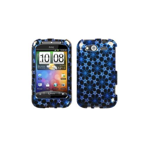 Insten Twinkle Stars Hard Glitter Case For HTC Wildfire S, Blue