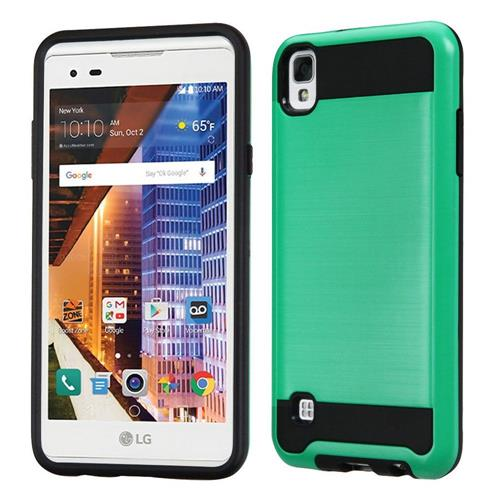 Insten Hard Dual Layer TPU Case For LG Tribute HD/X STYLE, Green/Black