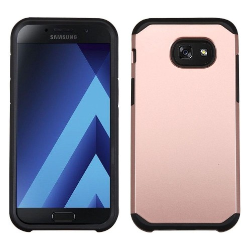 Insten Hard Hybrid TPU Cover Case For Samsung Galaxy A5(2017), Rose Gold/Black