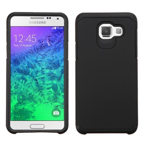 Insten Hard Dual Layer Silicone Cover Case For Samsung Galaxy A5 (2016), Black