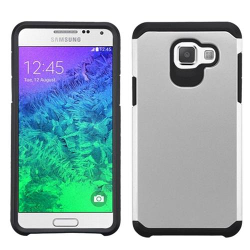 Insten Fitted Soft Shell Case for Samsung Galaxy A5 - Silver/Black