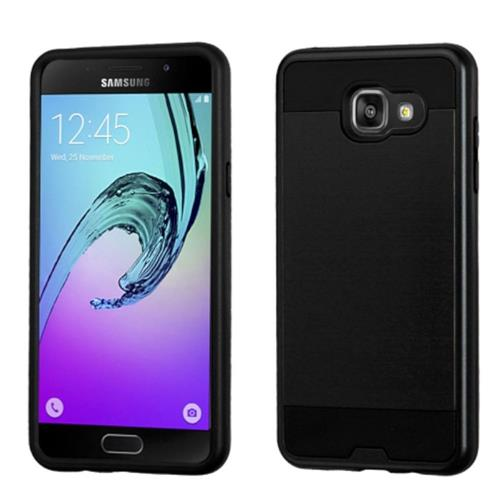 Insten Hard Dual Layer Rubber Coated Silicone Case For Samsung Galaxy A5 (2016), Black