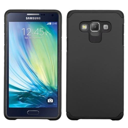 Insten Hard Dual Layer Rubberized Silicone Case For Samsung Galaxy A7, Black