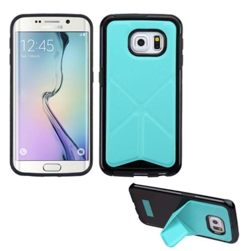 Insten Gel Cover Case w/stand For Samsung Galaxy S6 Edge, Blue/Black