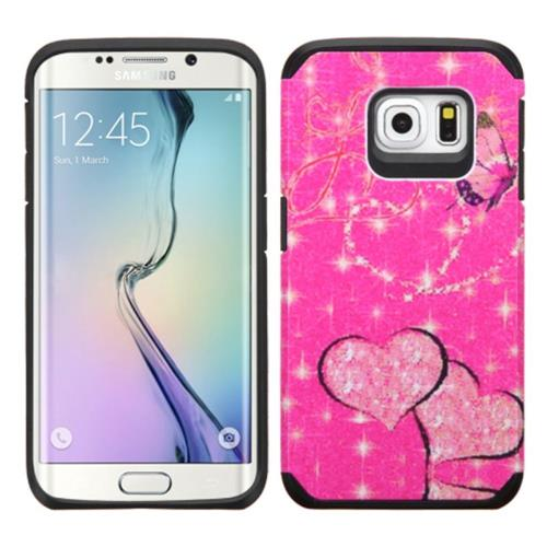 Insten Fitted Soft Shell Case for Samsung Galaxy S6 Edge - Hot Pink