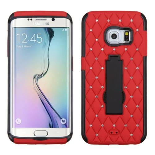Insten Fitted Hard Shell Case for Samsung Galaxy S6 Edge - Red/Black