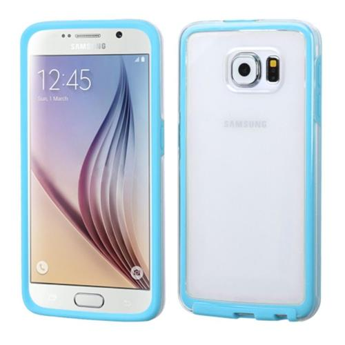 Insten Gel Cover Case For Samsung Galaxy S6, Clear/Blue