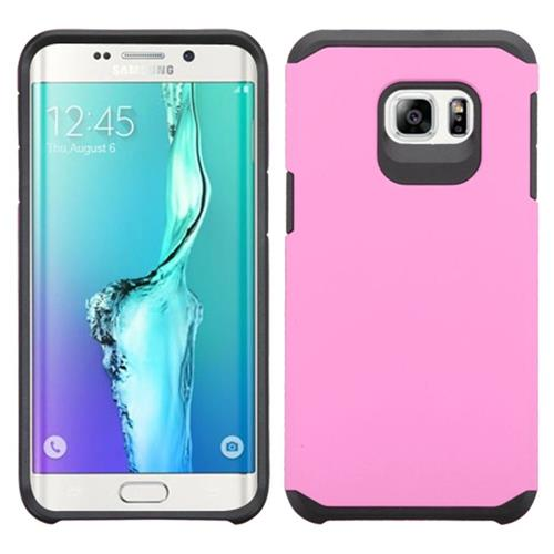 Insten Hard Hybrid Silicone Case For Samsung Galaxy S6 Edge Plus, Pink/Black