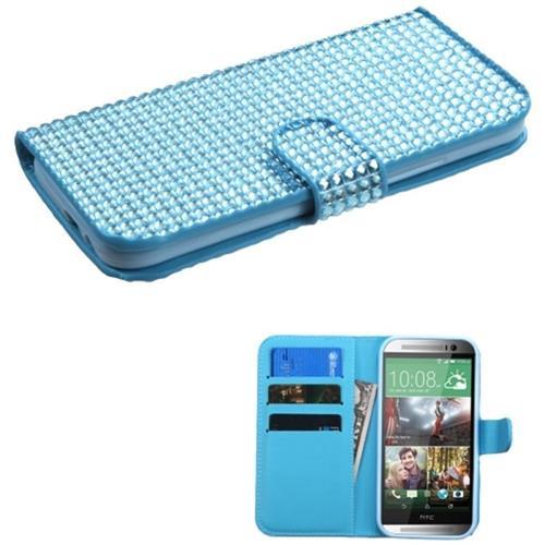 Insten Folio Case for HTC One 2 / M8 - Blue