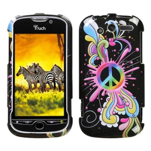 Insten Peace Pop Hard Cover Case For HTC MyTouch 4G, Colorful/Black