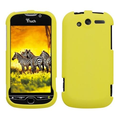 Insten Hard Rubber Coated Cover Case For HTC MyTouch 4G, Yellow