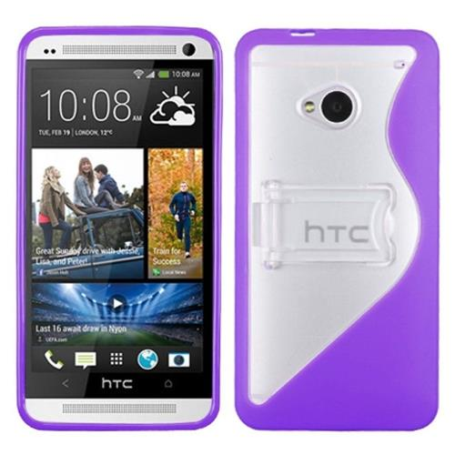 Insten Fitted Hard Shell Case for HTC One M7 - Purple/Clear