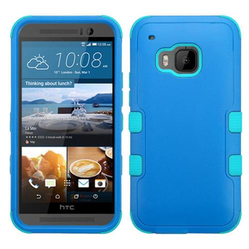 Insten Hard Hybrid Rubberized Silicone Case For HTC One M9, Blue