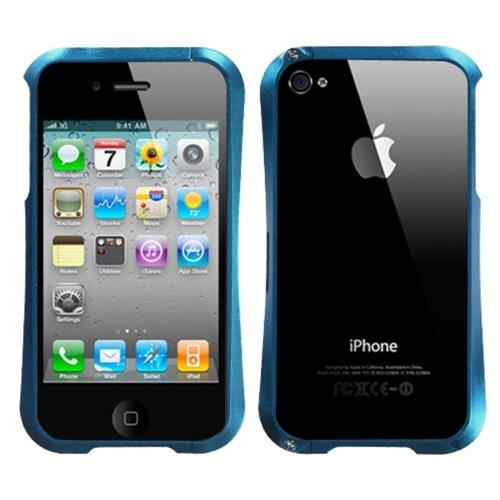 Insten Aluminum Metallic Bumper For Apple iPhone 4/4S, Blue