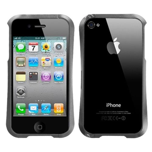 Insten Aluminum Metallic Bumper For Apple iPhone 4/4S, Gray