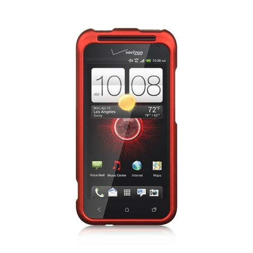 Insten Hard Rubber Case For HTC Droid Incredible (LTE version), Red