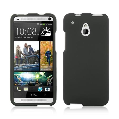 Insten Hard Rubberized Cover Case For HTC One Mini, Black