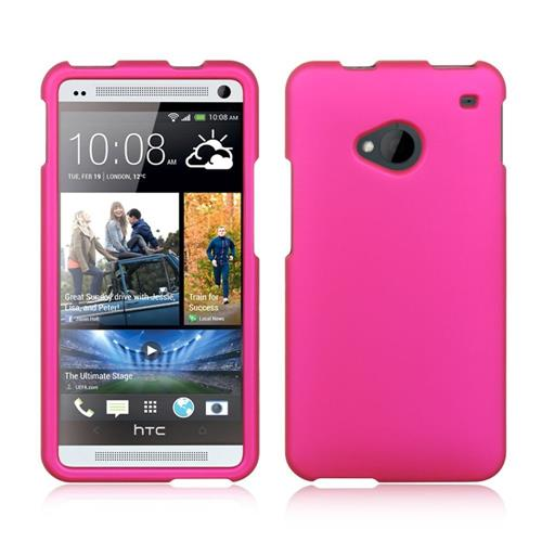 Insten Hard Diamante Case For HTC One M7, Hot Pink