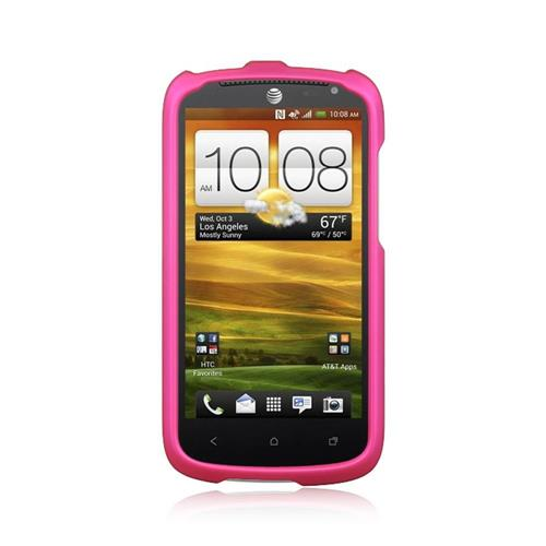 Insten Hard Rubber Cover Case For HTC One VX, Hot Pink