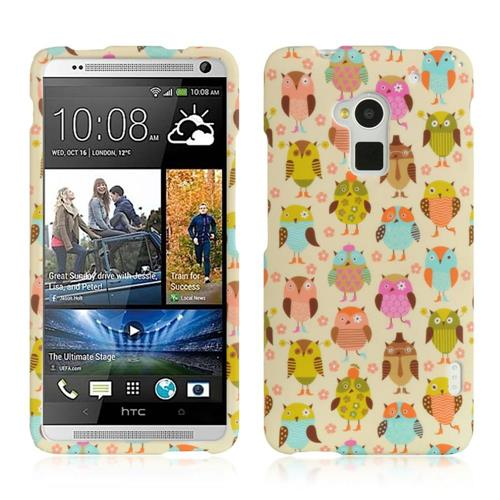 Insten Hard Rubber Coated Cover Case For HTC One Max, Colorful