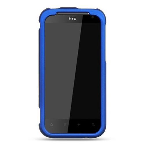 Insten Hard Rubber Coated Case For HTC Rezound / Vigor, Blue