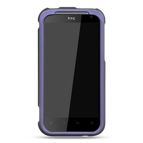 Insten Hard Rubber Coated Case For HTC Rezound / Vigor, Purple