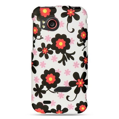 Insten Hard Rubber Coated Cover Case For HTC Rezound / Vigor, White/Black