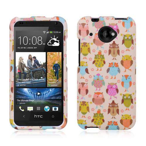 Insten Hard Rubberized Case For HTC Desire 601, Colorful