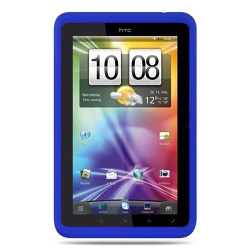 Insten Fitted Soft Shell Case for HTC EVO View 4G / Flyer - Blue