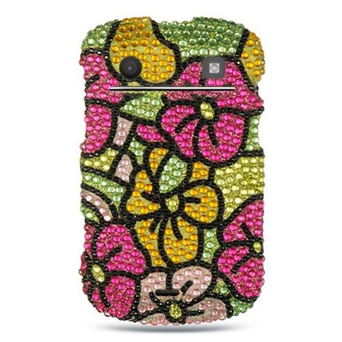 Insten Hard Diamante Cover Case For BlackBerry Bold Touch 9900/9930, Colorful