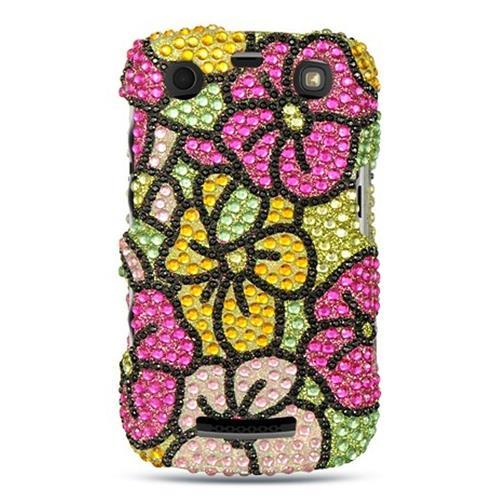 Insten Hard Rhinestone Case For BlackBerry Curve 9360, Colorful