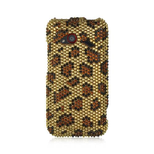 Insten Hard Bling Cover Case For HTC Droid Incredible (LTE version), Gold/Brown