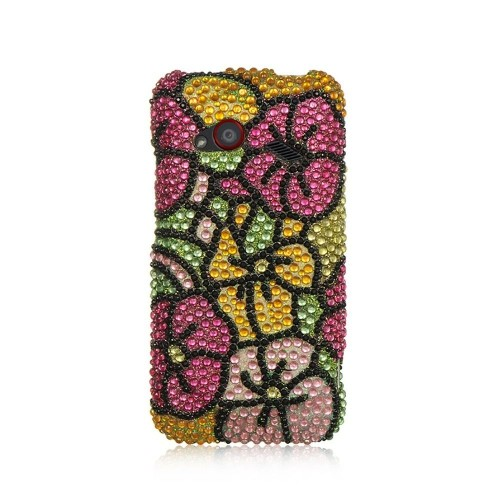 Insten Hard Bling Cover Case For HTC Droid Incredible (LTE version), Colorful