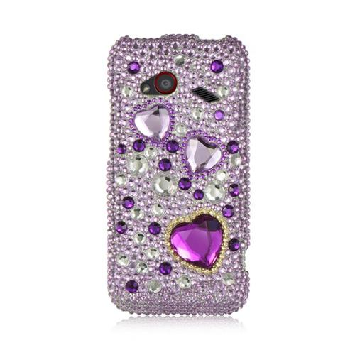 Insten Hard 3D Rhinestone Case For HTC Droid Incredible (LTE version), Purple/Pink