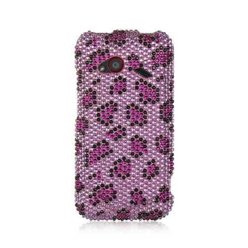 Insten Hard Bling Cover Case For HTC Droid Incredible (LTE version), Purple/Pink
