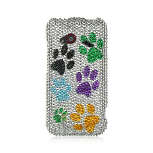 Insten Hard Diamante Cover Case For HTC Droid Incredible (LTE version), Colorful