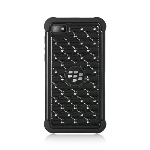 Insten Hard Dual Layer TPU Case w/Diamond For BlackBerry Z10, Black