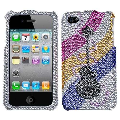 Insten Hard Bling Cover Case For Apple iPhone 4/4S, Colorful