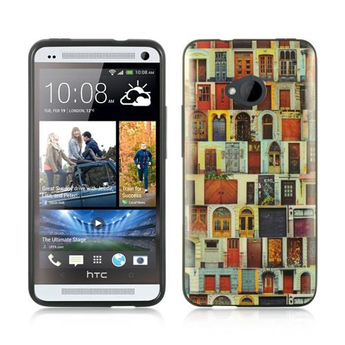 Insten Gel Case For HTC One M7, Colorful