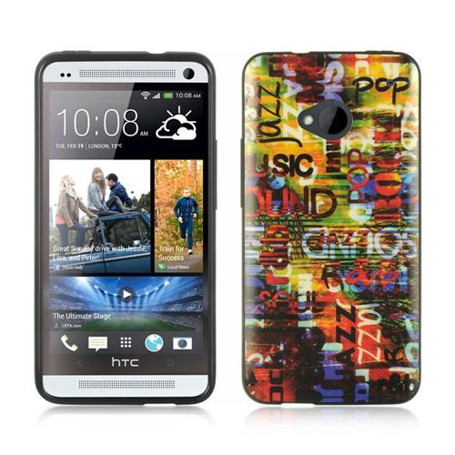 Insten Fitted Soft Shell Case for HTC One M7 - Colorful