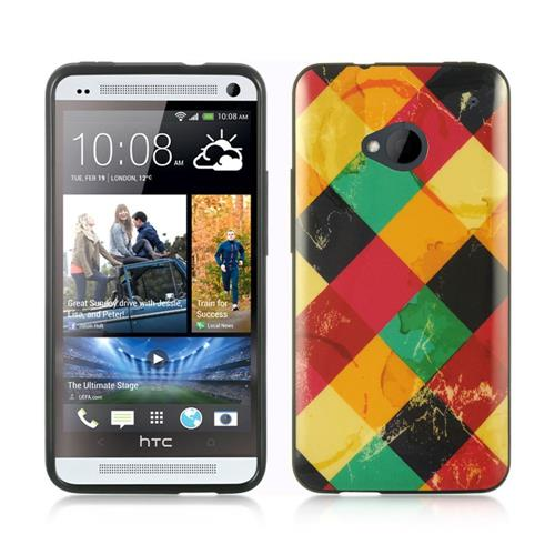 Insten TPU Cover Case For HTC One M7, Colorful