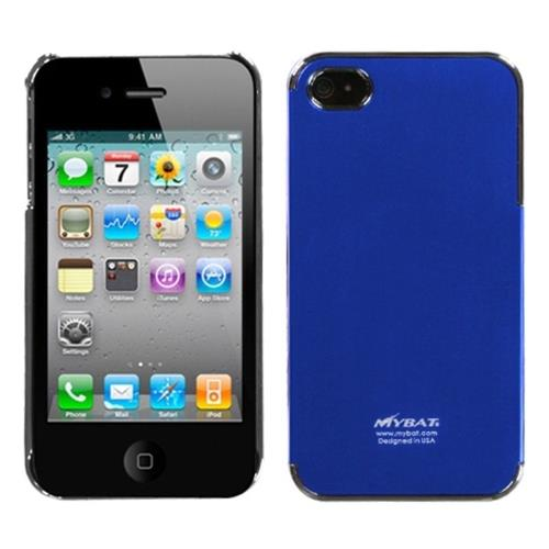 Insten Cosmo Aluminum Metallic Hard Cover Case For Apple iPhone 4/4S, Blue