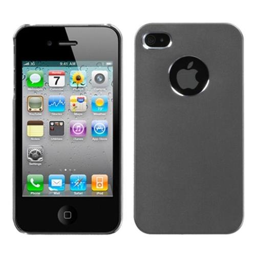 Insten Cosmo Aluminum Metallic Cover Case For Apple iPhone 4/4S, Gray/Silver